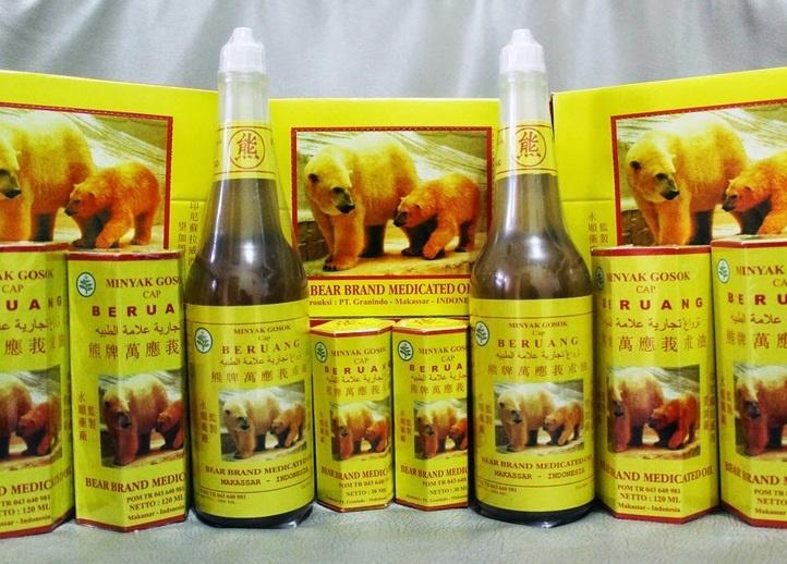 Minyak Gosok Cap Beruang Asli Makassar
